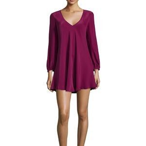 Amanda Uprichard Juliana Long Sleeve Mini Dress